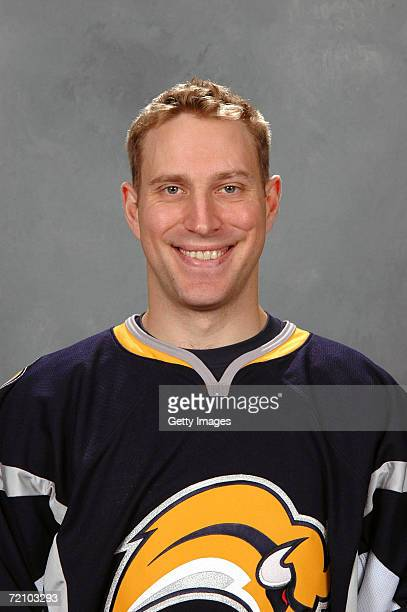 Right wing Adam Mair of the NHL Buffalo Sabres poses for a portrait at HSBC Arena on September 14 2006 in Buffalo New York