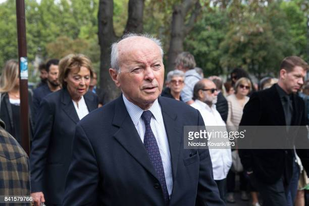 Rights Defender Jacques Toubon attends Mireille Darc's Funeral at Eglise Saint Sulpice on September 1 2017 in Paris France French actress died aged...