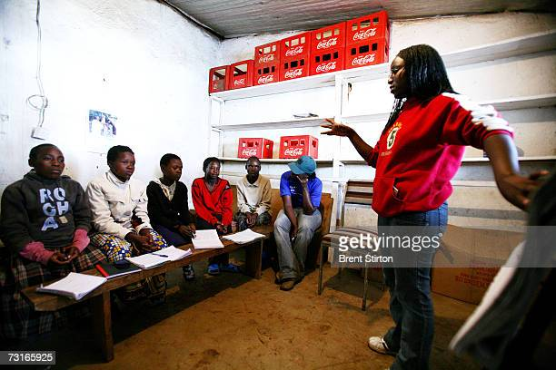 Rights workshops and selfempowerment classes for young women and girls in the sprawling Kibera slum in Nairobi Kenya December 2006 These young women...