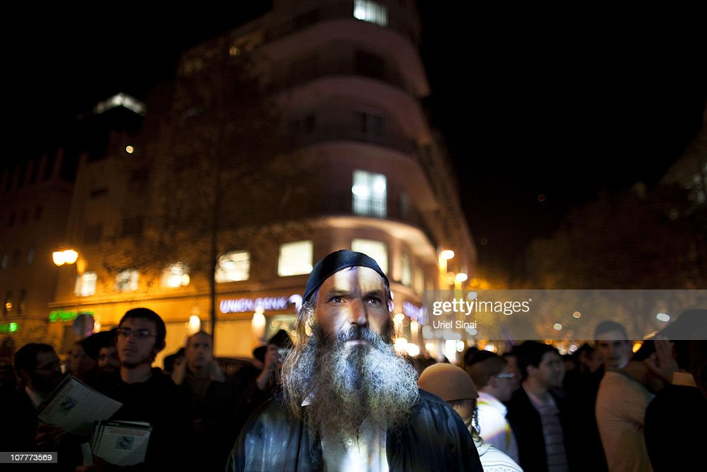 Right-wing Israelis hold a rally on December 23, 2010 in Jerusalem, Israel. The rally was held in support of a rabbis' letter forbidding Jews from selling or renting property to non-Jews, in support of settlement activity in the occupied West Bank and east Jerusalem, and to ask for the release of Jonathan Pollard, who is in prison in America on charges of spying for Israel.