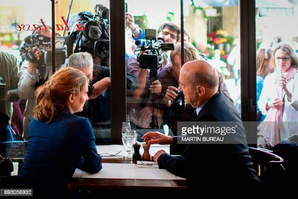 TOPSHOT Rightwing Les Republicains party candidate in the second constituency of Paris in the upcoming legislative elections Nathalie...