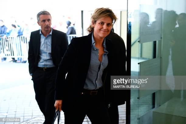 Rightwing Les Republicains party member Pierre Molager and former LR French presidential election Francois Fillon's press agent Caroline Morard...