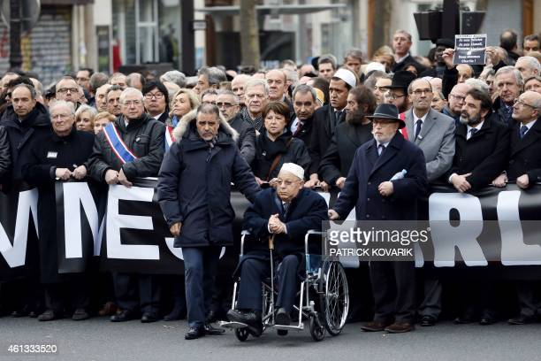 UMP rightwing party member JeanFrancois Cope Roger Cukierman President of the CRIF former French employers union MEDEF president Laurence Parisot...
