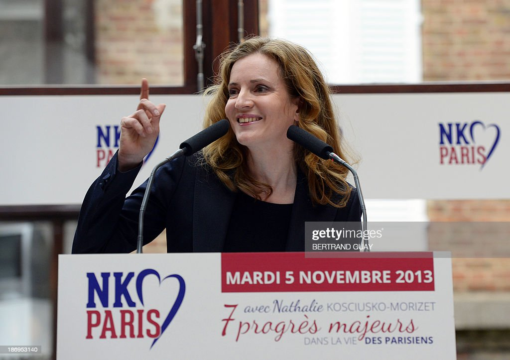 UMP right-wing party's candidate for Paris 2014 mayoral election Nathalie Kosciusko-Morizet delivers a speech to unveil her project for Paris, on November 5, 2013, in Paris. AFP PHOTO / BERTRAND GUAY