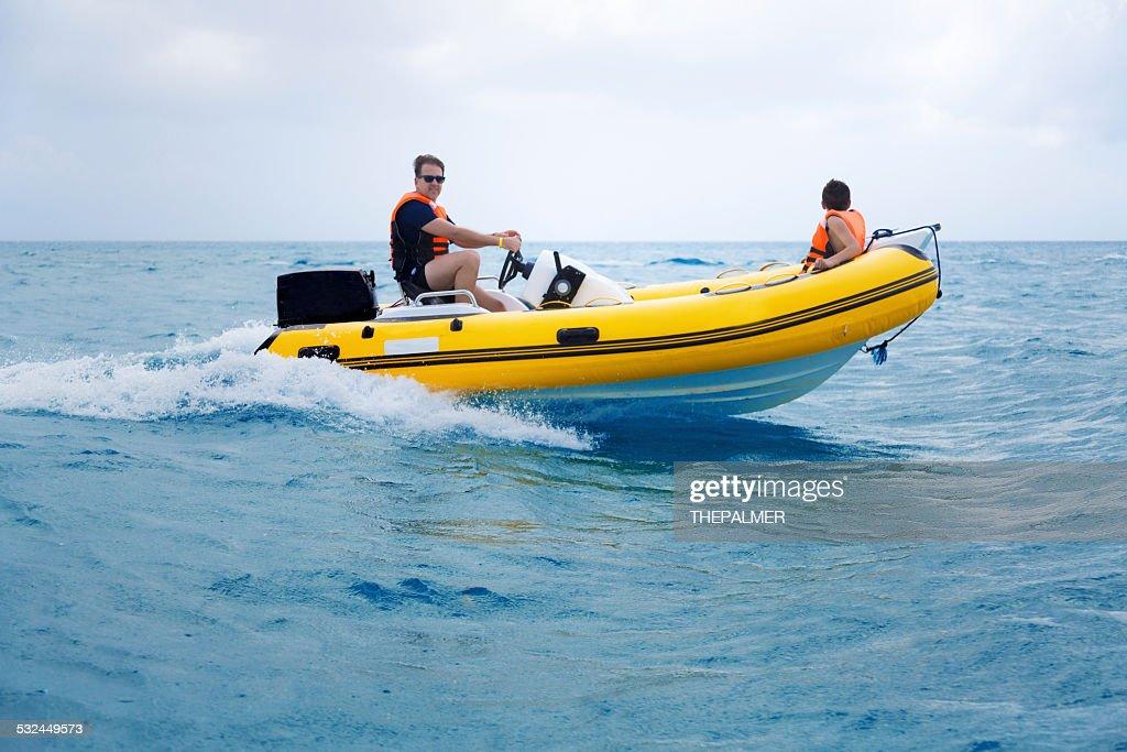 Barca gonfiabile rigido : Foto stock
