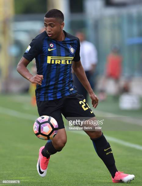 Rigoberto Rivas Vindel of FC Internazionale in action during the Primavera TIM Playoffs match between FC Internazionale and AC Chievo Verona on June...