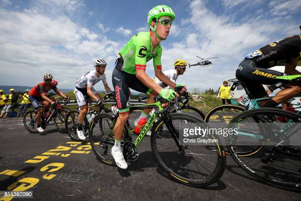 Rigoberto Uran of Colombia riding for Cannondale Drapac rides in the peloton during stage 9 of the 2017 Le Tour de France a 1815km stage from Nantua...