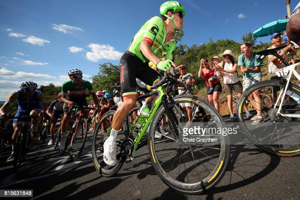 Rigoberto Uran of Colombia riding for Cannondale Drapac rides in the peloton during stage 15 of the 2017 Le Tour de France a 1895km stage from...