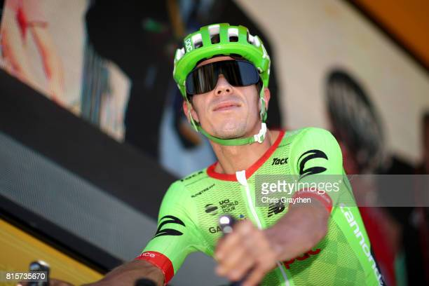 Rigoberto Uran of Colombia riding for Cannondale Drapac rides off the sign in stage during stage 15 of the 2017 Le Tour de France a 1895km stage from...