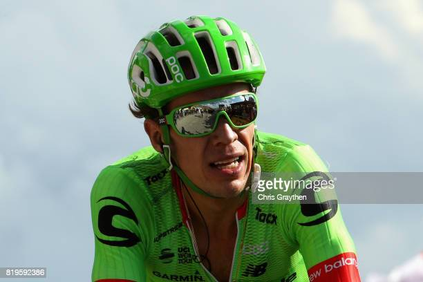 Rigoberto Uran of Colombia riding for Cannondale Drapac rides on stage eighteen of the 2017 Tour de France a 1795km stage from Briancon to Izoard on...