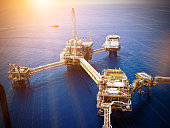 Rigs offshore Oil refinery,thailand