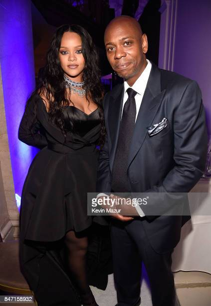 Rihanna and Dave Chappelle attend Rihanna's 3rd Annual Diamond Ball Benefitting The Clara Lionel Foundation at Cipriani Wall Street on September 14...