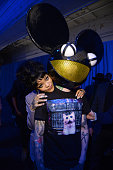 Rihanna and Deadmau5 attend the Tidal launch event #TIDALforALL at Skylight at Moynihan Station on March 30 2015 in New York City