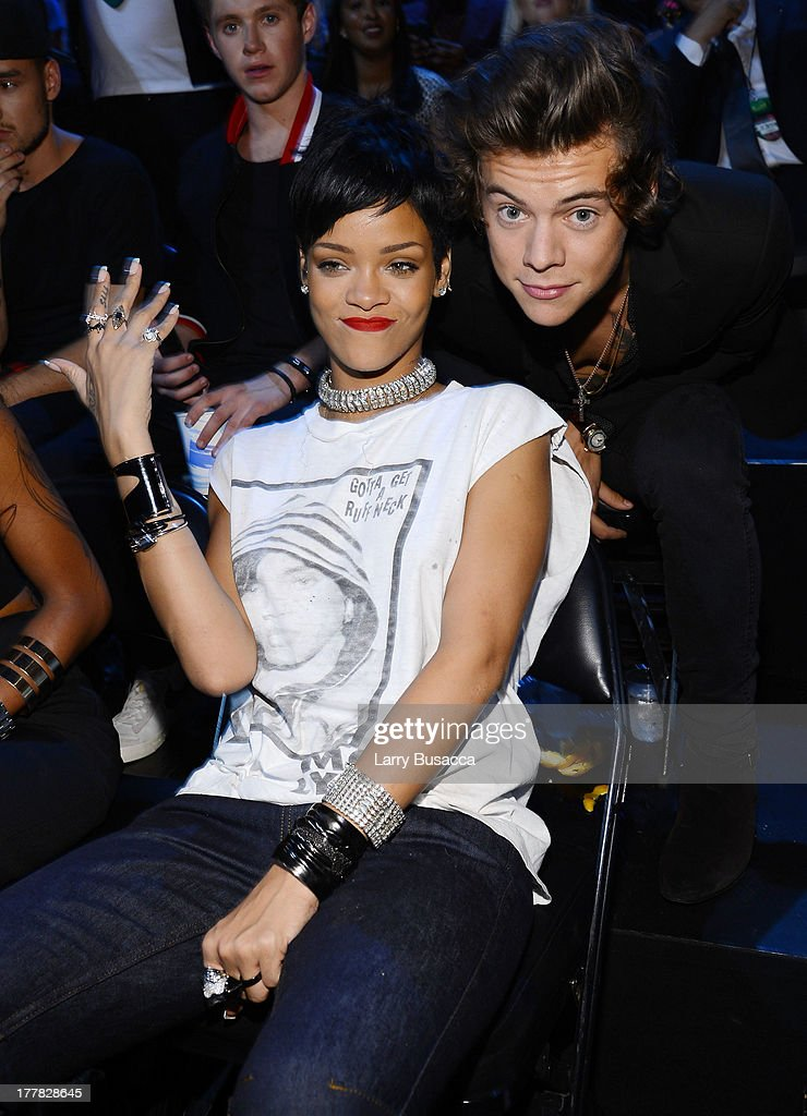 Rihanna and Harry Styles attends the 2013 MTV Video Music Awards at the Barclays Center on August 25, 2013 in the Brooklyn borough of New York City.