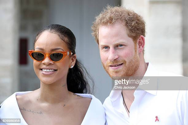 Rihanna and Prince Harry attend the 'Man Aware' event held by the Barbados National HIV/AIDS Commission on the eleventh day of an official visit on...