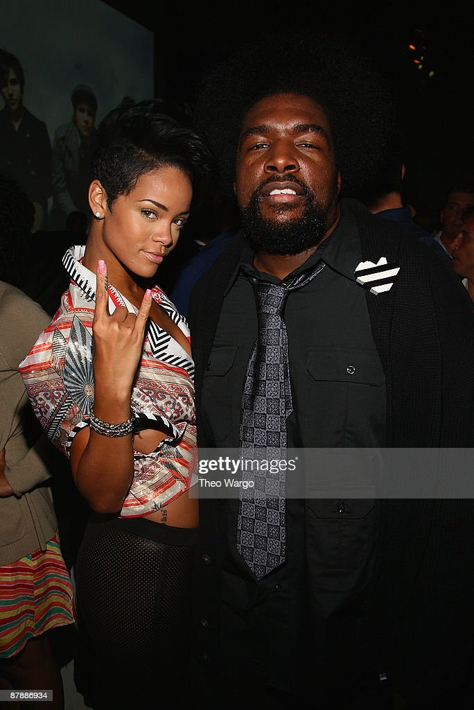 *EXCLUSIVE* <a gi-track='captionPersonalityLinkClicked' href=/galleries/search?phrase=Rihanna&family=editorial&specificpeople=453439 ng-click='$event.stopPropagation()'>Rihanna</a> and Questlove attend the Island Def Jam Spring Collection party at Stephen Weiss Studio on May 20, 2009 in New York City.