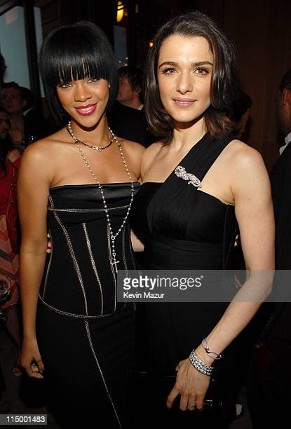 Rihanna and Rachel Weisz during Cartier Celebrates Love Inside at The Cartier Mansion in New York City New York United States