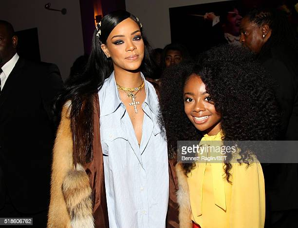 Rihanna and Skai Jackson attend Black Girls Rock 2016 on April 1 2016 in New York City