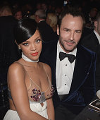 Rihanna and Tom Ford attend the amfAR Inspiration Gala honoring Tom Ford at Milk Studios on October 29 2014 in Hollywood California