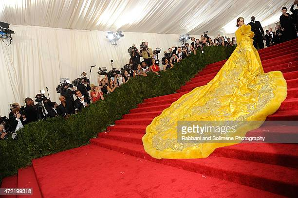 Rihanna arrives at 'China Through The Looking Glass' Costume Institute Benefit Gala at the Metropolitan Museum of Art on May 4 2015 in New York City
