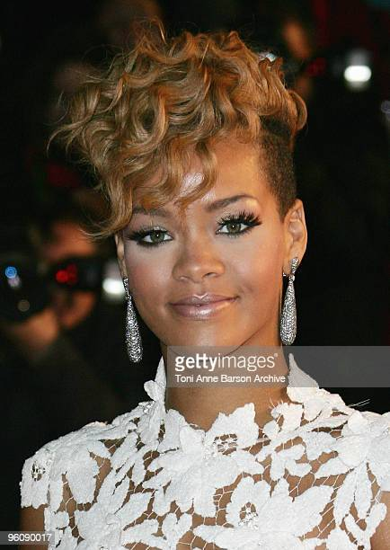 Rihanna arrives at NRJ Music Awards at the Palais des Festivals on January 23 2010 in Cannes France