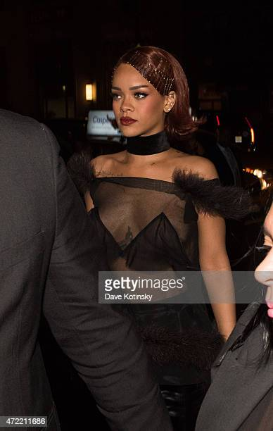 Rihanna arrives at Rihanna's Private Met Gala After Party at Up Down on May 4 2015 in New York City