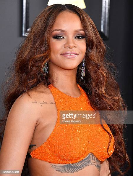 Rihanna arrives at the 59th GRAMMY Awards on February 12 2017 in Los Angeles California