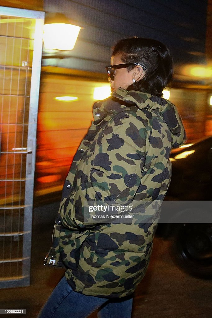 <a gi-track='captionPersonalityLinkClicked' href=/galleries/search?phrase=Rihanna&family=editorial&specificpeople=453439 ng-click='$event.stopPropagation()'>Rihanna</a> arrives at the after party for Chris Brown's concert in Stuttgart at Disco La Boom on November 23, 2012 in Heilbronn, Baden-Wuerttemberg.