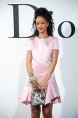 Rihanna arrives at the Christian Dior Cruise 2015 Show at Brooklyn Navy Yard on May 7 2014 in Brooklyn City New York
