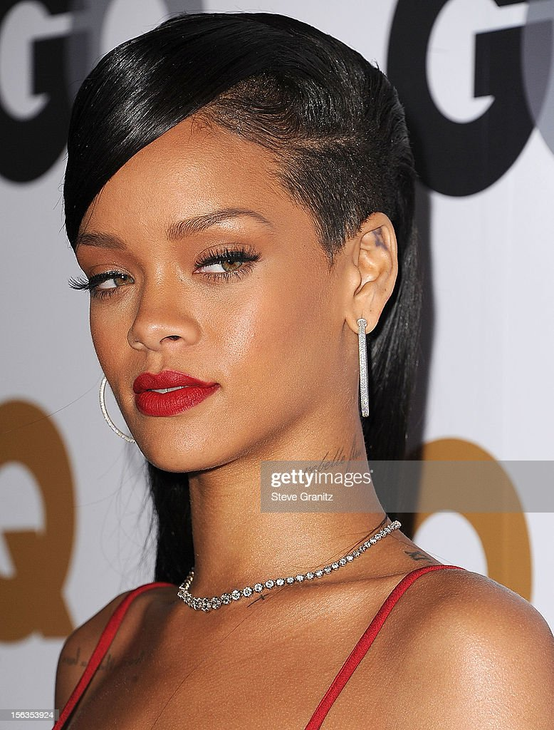 Rihanna arrives at the GQ Men Of The Year Party at Chateau Marmont on November 13, 2012 in Los Angeles, California.