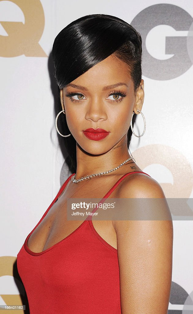 Rihanna arrives at the GQ Men Of The Year Party at Chateau Marmont Hotel on November 13, 2012 in Los Angeles, California.