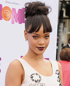 Rihanna arrives at the Los Angeles Premiere 'HOME' at Regency Village Theatre on March 22 2015 in Westwood California