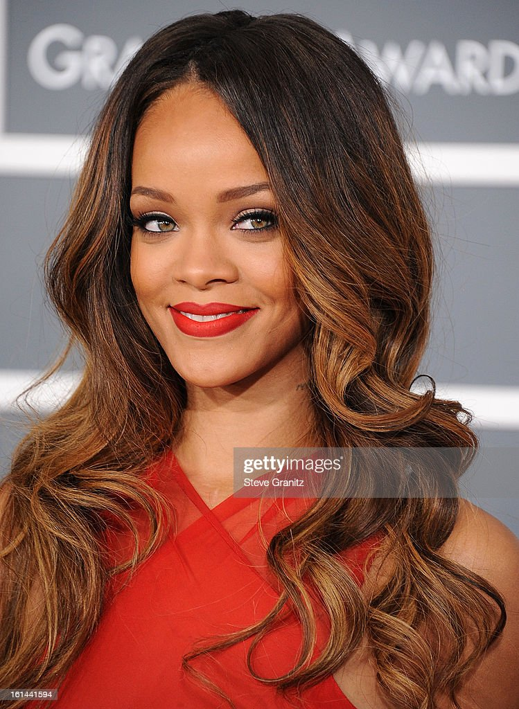 <a gi-track='captionPersonalityLinkClicked' href=/galleries/search?phrase=Rihanna&family=editorial&specificpeople=453439 ng-click='$event.stopPropagation()'>Rihanna</a> arrives at the The 55th Annual GRAMMY Awards on February 10, 2013 in Los Angeles, California.