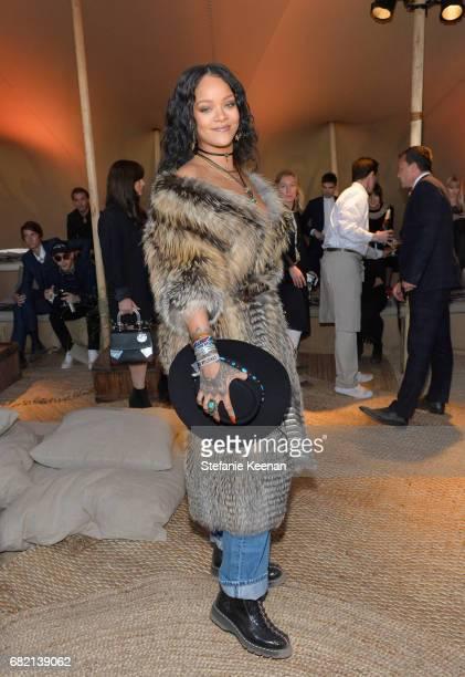 Rihanna at Christian Dior Cruise 2018 Show and After Party at Gladstone's Malibu on May 11 2017 in Malibu California