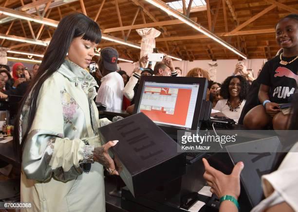 Rihanna at the FENTY PUMA by Rihanna Experience on April 18 2017 in Los Angeles California