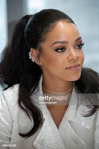 Rihanna at the 'Home' Press Conference at the Mandarin Oriental Hotel on March 14 2015 in New York City