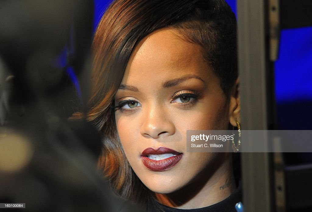 Rihanna attends as the Rihanna for River Island collection is launched at the Oxford Street River Island store on March 4, 2013 in London, England.