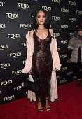 Rihanna attends FENDI celebrates the opening of the New York flagship store on February 13 2015 in New York City