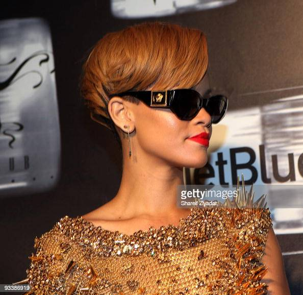Rihanna attends her 'Rated R' album release party at the juliet Superclub on November 24 2009 in New York City