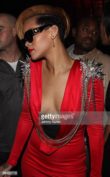 Rihanna attends her 'Rated R' album release party at the Juliet on November 24 2009 in New York City