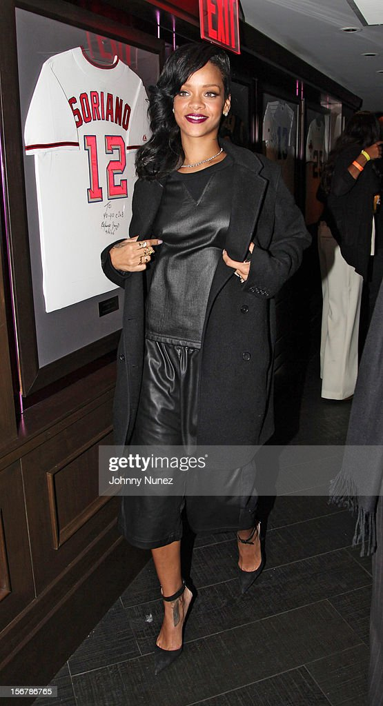 Rihanna attends her 'Unapologetic' Record Release Party at 40 / 40 Club on November 20, 2012 in New York City.