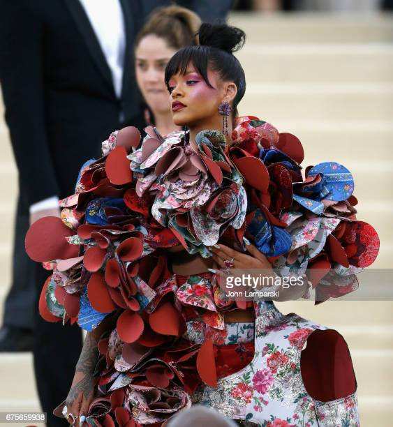 Rihanna attends 'Rei Kawakubo/Comme des Garcons Art Of The InBetween' Costume Institute Gala at The Metropolitan Museum of Art on May 1 2017 in New...