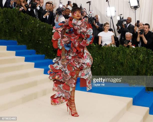Rihanna attends 'Rei Kawakubo/Commes Des Garcons Art of the InBetween' at Metropolitan Museum of Art on May 1 2017 in New York City