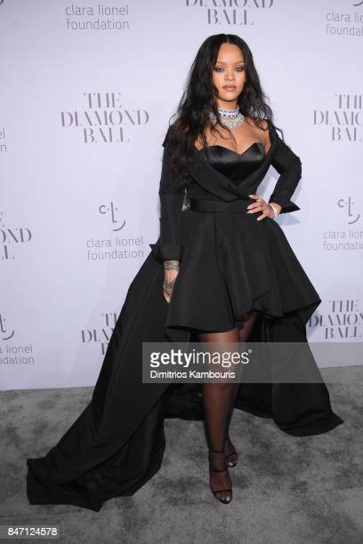 Rihanna attends Rihanna's 3rd Annual Diamond Ball Benefitting The Clara Lionel Foundation at Cipriani Wall Street on September 14 2017 in New York...
