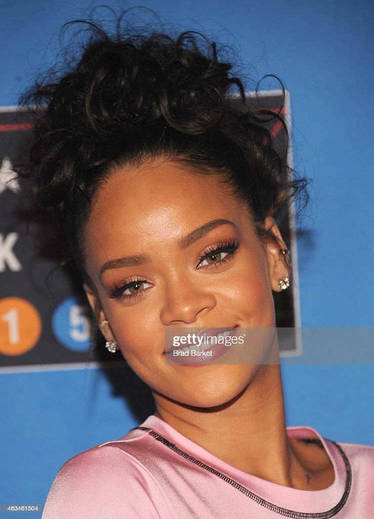 <a gi-track='captionPersonalityLinkClicked' href=/galleries/search?phrase=Rihanna&family=editorial&specificpeople=453439 ng-click='$event.stopPropagation()'>Rihanna</a> attends State Farm All-Star Saturday Night - NBA All-Star Weekend 2015 at Barclays Center on February 14, 2015 in New York, New York.