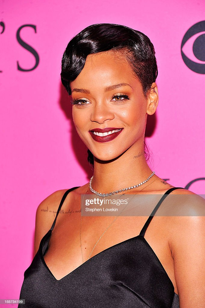 Rihanna attends the 2012 Victoria's Secret Fashion Show at the Lexington Avenue Armory on November 7, 2012 in New York City.
