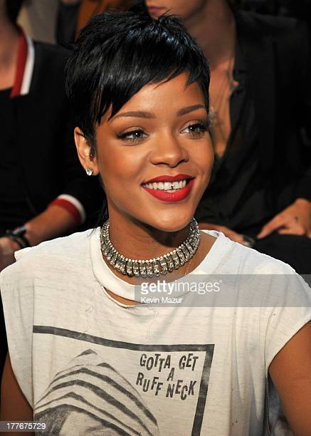 Rihanna attends the 2013 MTV Video Music Awards at the Barclays Center on August 25 2013 in the Brooklyn borough of New York City