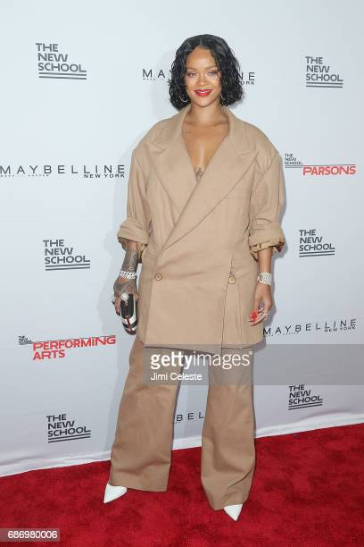 Rihanna attends the 69th annual Parsons benefit at Pier Sixty at Chelsea Piers on May 22 2017 in New York City