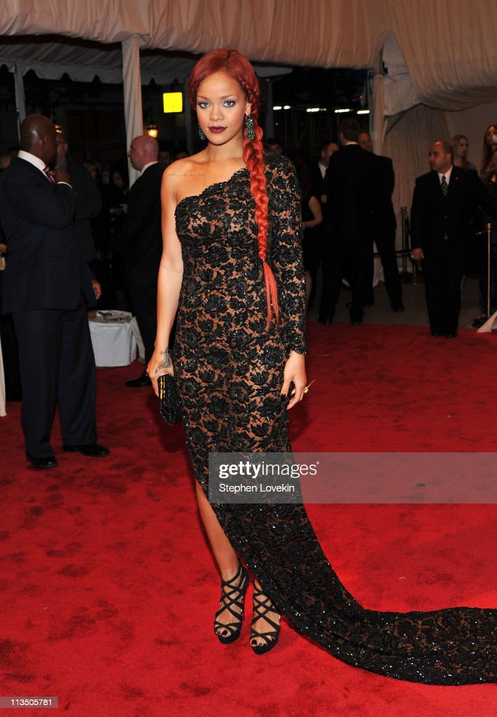Rihanna attends the 'Alexander McQueen: Savage Beauty' Costume Institute Gala at The Metropolitan Museum of Art on May 2, 2011 in New York City.