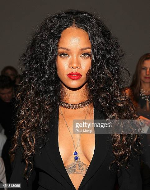 Rihanna attends the Altuzarra show during MercedesBenz Fashion Week Spring 2015 at Spring Studios on September 6 2014 in New York City